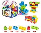 ニューバランス 人気 WTOR 積み木 ブロック 知育 おもちゃ 玩具 男の子 女の子 贈り物 誕生日プレゼント 出産祝い 130個バック (バック 1)