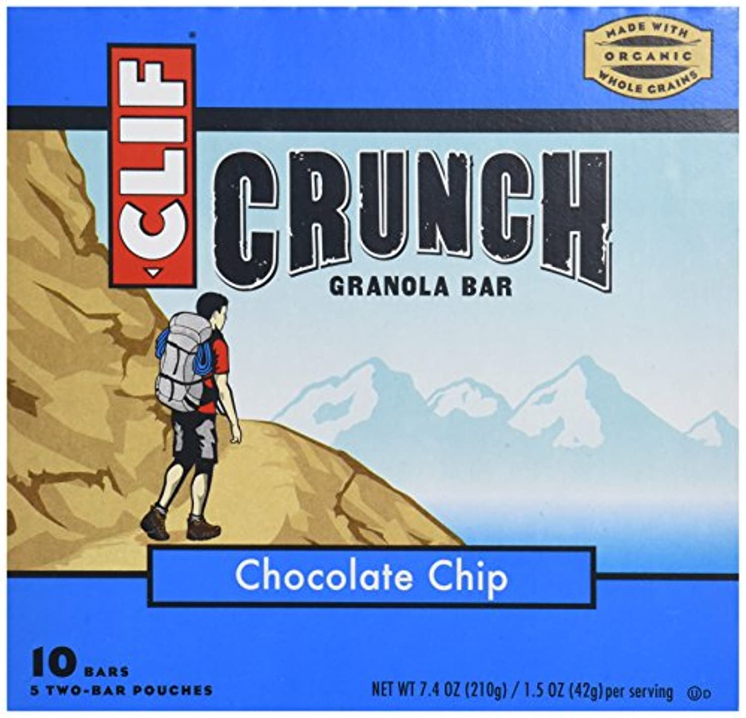 チチカカ湖実施する内部クリフバー437005クリフクランチチョコチップ-5