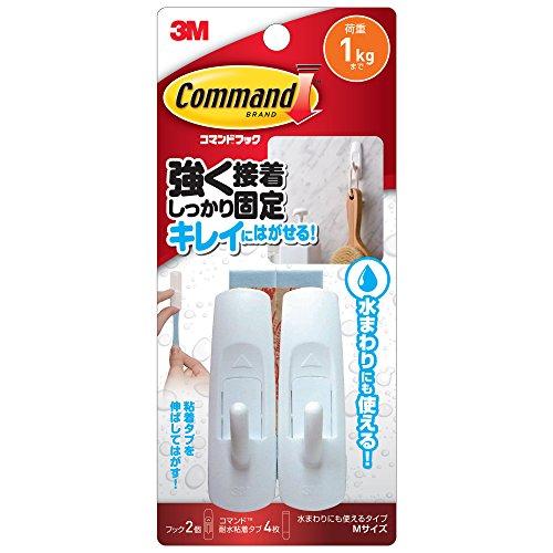 3M コマンド フック 水まわりにも使えるタイプ Mサイズ ...