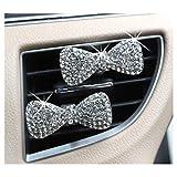 LuckySHD 2 Pcs Crystal Bowknot Car Perfume Clip Car Aromatherapy with Vent Clip [並行輸入品]