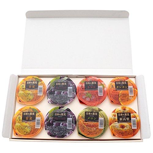 【九州旬食館】 日本の果実 フルーツ ゼリー 6種 8個入り(甘夏 トマト タンカン メロン ブルーベリー 新高 梨) 詰め合わせ ギフト セット