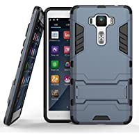 【YOUNGE】For Asus ZenFone 3 Deluxe ケース ZS550KL 耐衝撃 2重構造 TPU ゼンフォン3 デラックス ZS550KL 背面ケース ZS550KL (ZenFone 3 Deluxe/ ZS550KL, ダークブルー)
