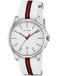 [グッチ]GUCCI 腕時計 Gタイムレス ホワイト文字盤 チェンジベルト YA126323 メンズ 【並行輸入品】
