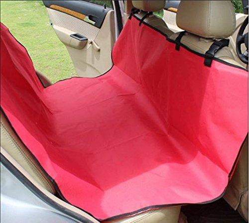 G feelings ドライブシート ペット用 後部座席用 シートカバー 小型犬 中型犬 (赤)