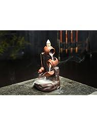 (Style 29) - Gift Pro Ceramic Backflow Incense Tower Burner Statue Figurine Incense Holder Incenses Not Included...