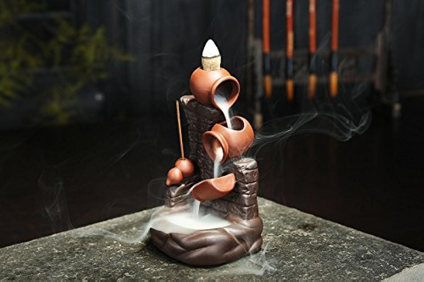 細断不利益ピニオン(Style 29) - Gift Pro Ceramic Backflow Incense Tower Burner Statue Figurine Incense Holder Incenses Not Included...