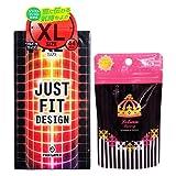 JUST★FIT(ジャストフィット) XL + ルリアンラグジュアリー(うすぴたコンドーム3個+ローション3包) セット