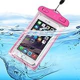 ONX3 (Hot Pink) ZTE Kis 3 Max / Blade G Lux ユニバーサルトランスペアレントモバイルセルスマートフォン、パスポート、お金水中防水保護袋タッチレスポンス