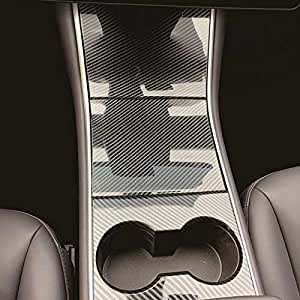RUIQ For Tesla Model 3 専用 内装 ドリンクホルダー カバーガーニッシュ 炭素繊維黒色仕様