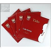 チェロ弦 TIDO ティドー 4弦セット(CGDA)1/8 - 4/4サイズ 各種あり!上質スチール弦 (1/2)