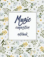 """Music Composition Notebook: Music Manuscript Paper, Staff Paper, Musicians Notebook, Blank Guitar Tab, Book Bound (Perfect Binding) Paper 120 Pages Large Print 8.5"""" X 11"""""""