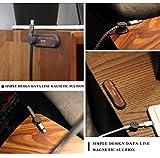 Philonext 磁気ケーブルクリップ 新しいスタイル 万能磁気ケーブルホルダー ケーブル固定 便利 (クルミの木)