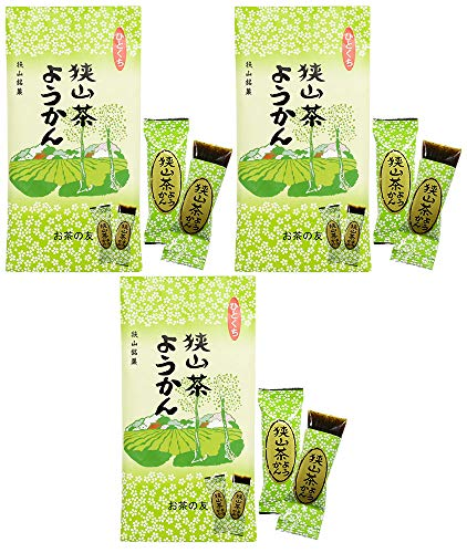 mita 狭山茶ようかん 8個入 / 袋 × 3セット ( 緑茶羊羹 ) ひとくちようかん ・ 一口ようかん ミニようかん