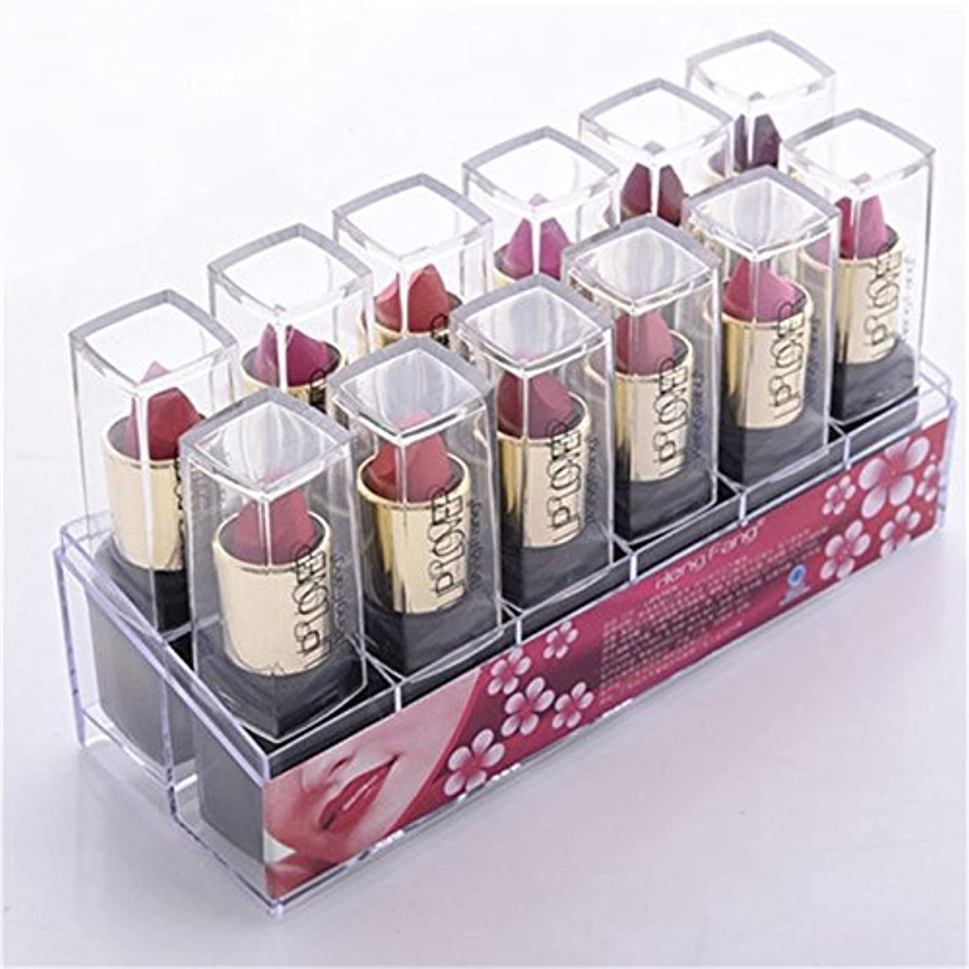 露骨な噴火推進2017 New 12pcs/set Lipsticks Sex Nude Lip Matte Kits Long Lasting Waterproof Pigment Matte Makeup Lipstick Set...