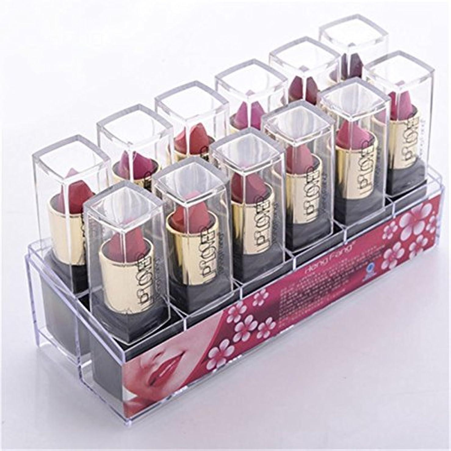 波紋入射高尚な2017 New 12pcs/set Lipsticks Sex Nude Lip Matte Kits Long Lasting Waterproof Pigment Matte Makeup Lipstick Set...