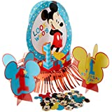 (Standard, Blue/Red/Yellow/Multicolor) - Amscan Disney Mickey's Fun to be One Table Decorating Kit, Birthday