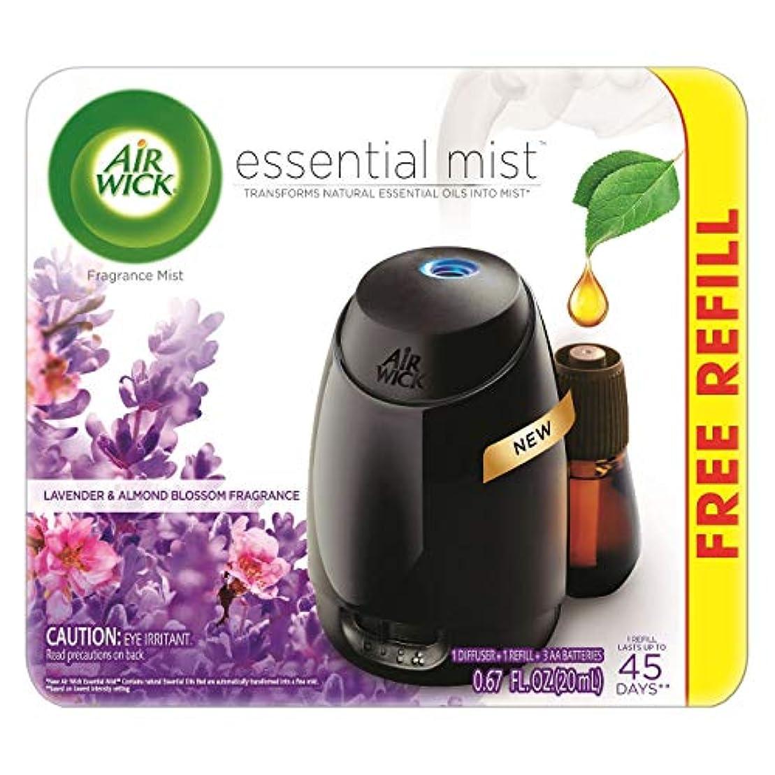 ソート血老人Air Wick Fresh Lavender & Almond Blossom Fragrance Essential エアーウィックフレッシュフレグランスエッセンシャルミスト本体+ ラベンダー&アーモンドブロッサム 芳香剤 20ml 、1パック [並行輸入品]
