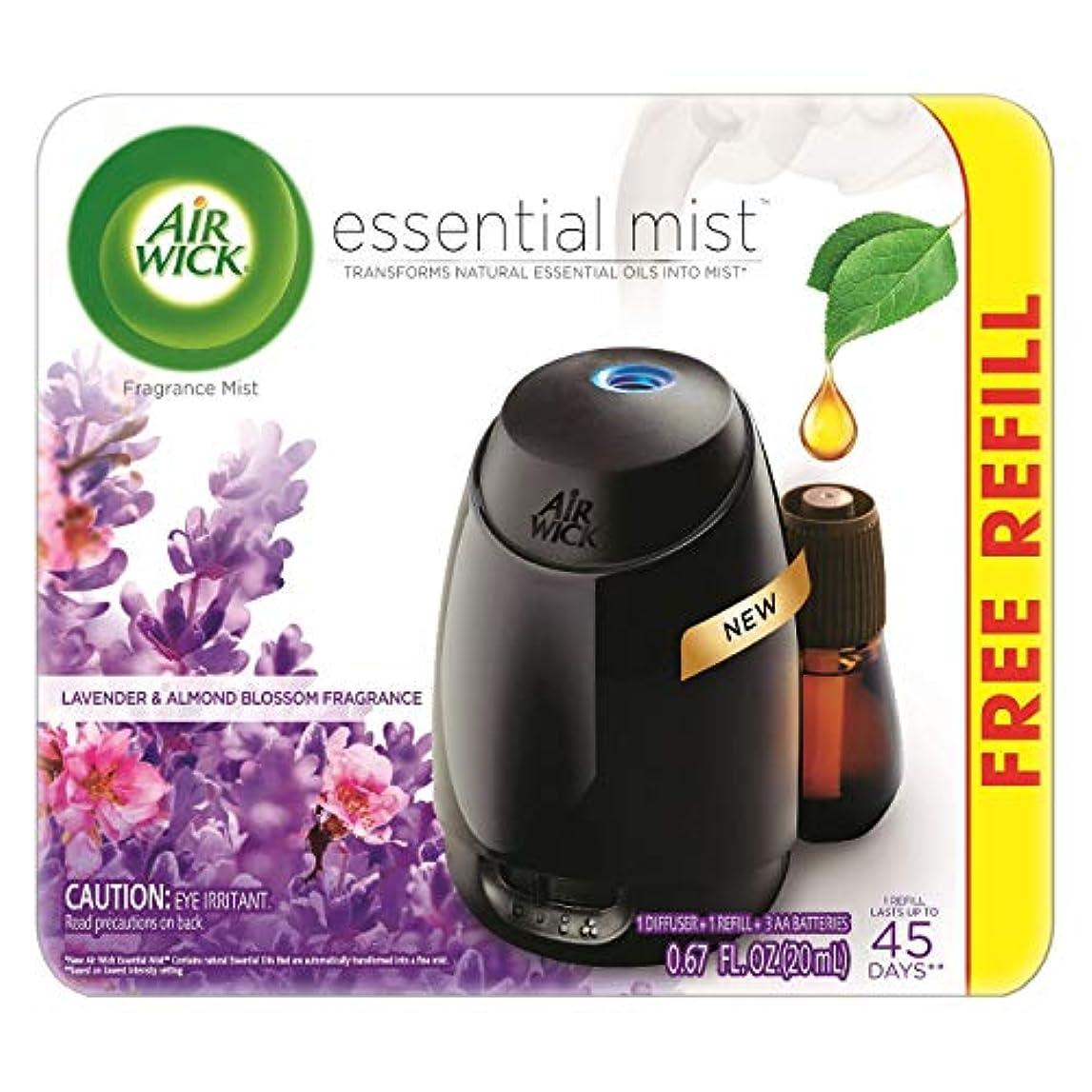 松明消費するグローブAir Wick Fresh Lavender & Almond Blossom Fragrance Essential エアーウィックフレッシュフレグランスエッセンシャルミスト本体+ ラベンダー&アーモンドブロッサム...