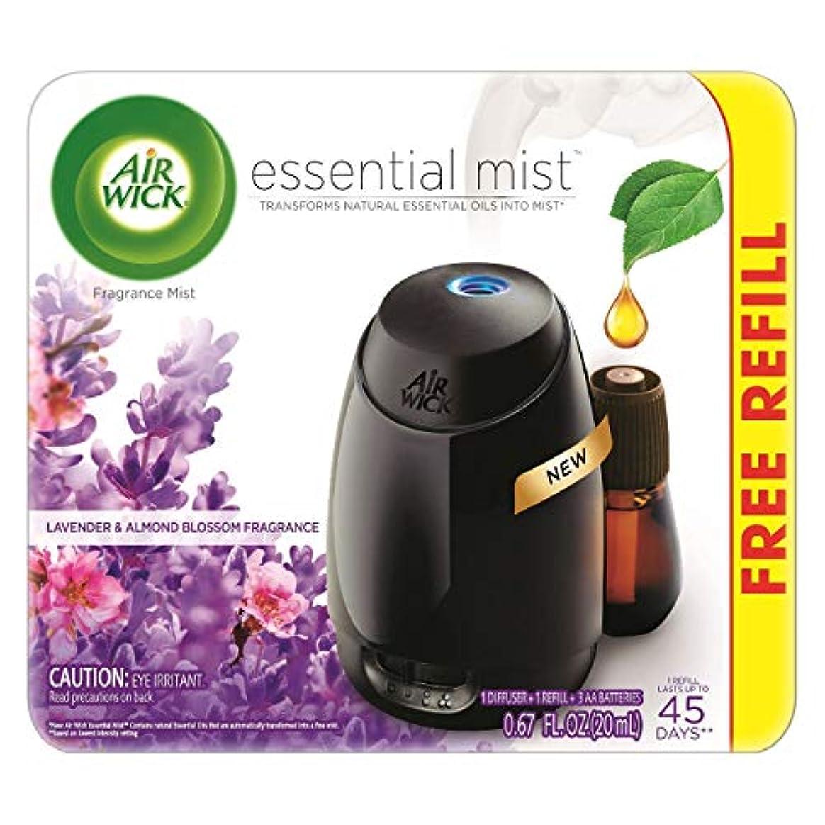 容器シャンパンムスタチオAir Wick Fresh Lavender & Almond Blossom Fragrance Essential エアーウィックフレッシュフレグランスエッセンシャルミスト本体+ ラベンダー&アーモンドブロッサム...