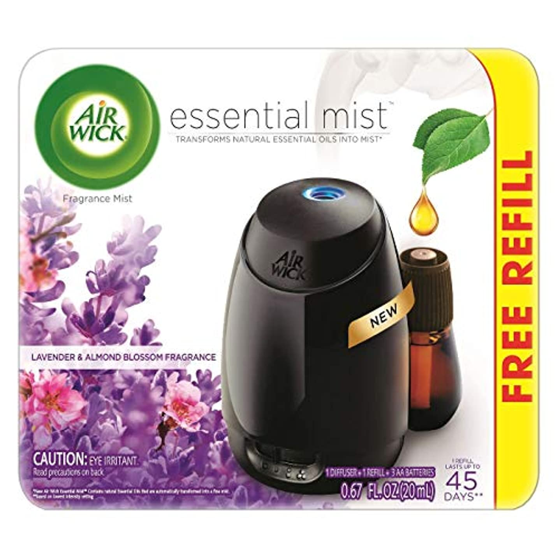 エージェント混乱した好きであるAir Wick Fresh Lavender & Almond Blossom Fragrance Essential エアーウィックフレッシュフレグランスエッセンシャルミスト本体+ ラベンダー&アーモンドブロッサム...