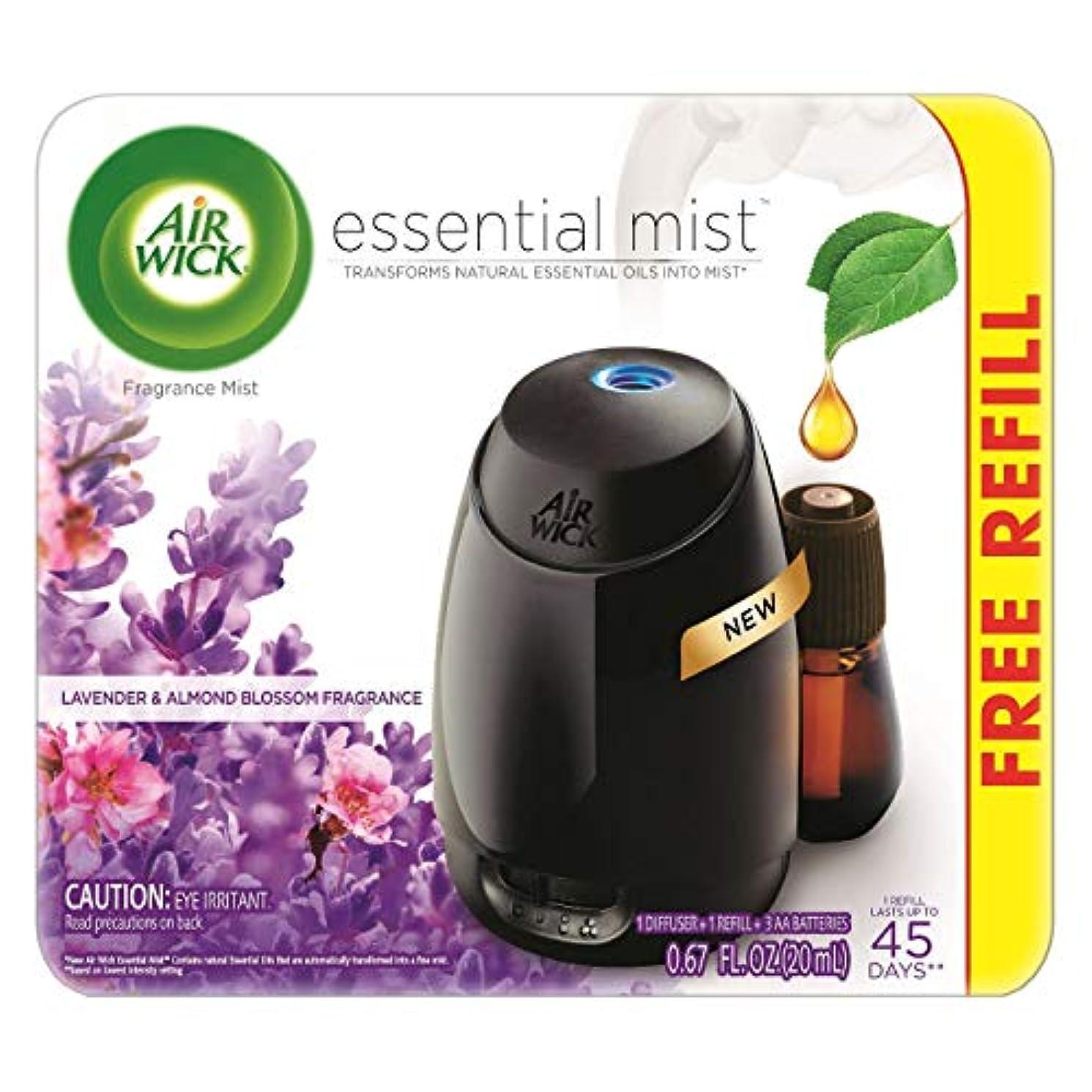 ソフィースペクトラム相互Air Wick Fresh Lavender & Almond Blossom Fragrance Essential エアーウィックフレッシュフレグランスエッセンシャルミスト本体+ ラベンダー&アーモンドブロッサム 芳香剤 20ml 、1パック [並行輸入品]