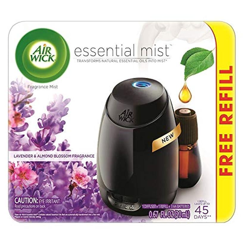 委託無意識潤滑するAir Wick Fresh Lavender & Almond Blossom Fragrance Essential エアーウィックフレッシュフレグランスエッセンシャルミスト本体+ ラベンダー&アーモンドブロッサム...