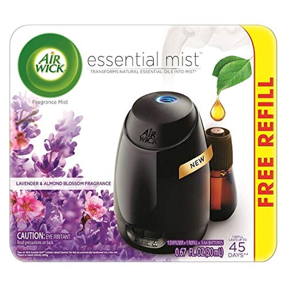 クローゼットビジュアル乳白色Air Wick Fresh Lavender & Almond Blossom Fragrance Essential エアーウィックフレッシュフレグランスエッセンシャルミスト本体+ ラベンダー&アーモンドブロッサム 芳香剤 20ml 、1パック [並行輸入品]
