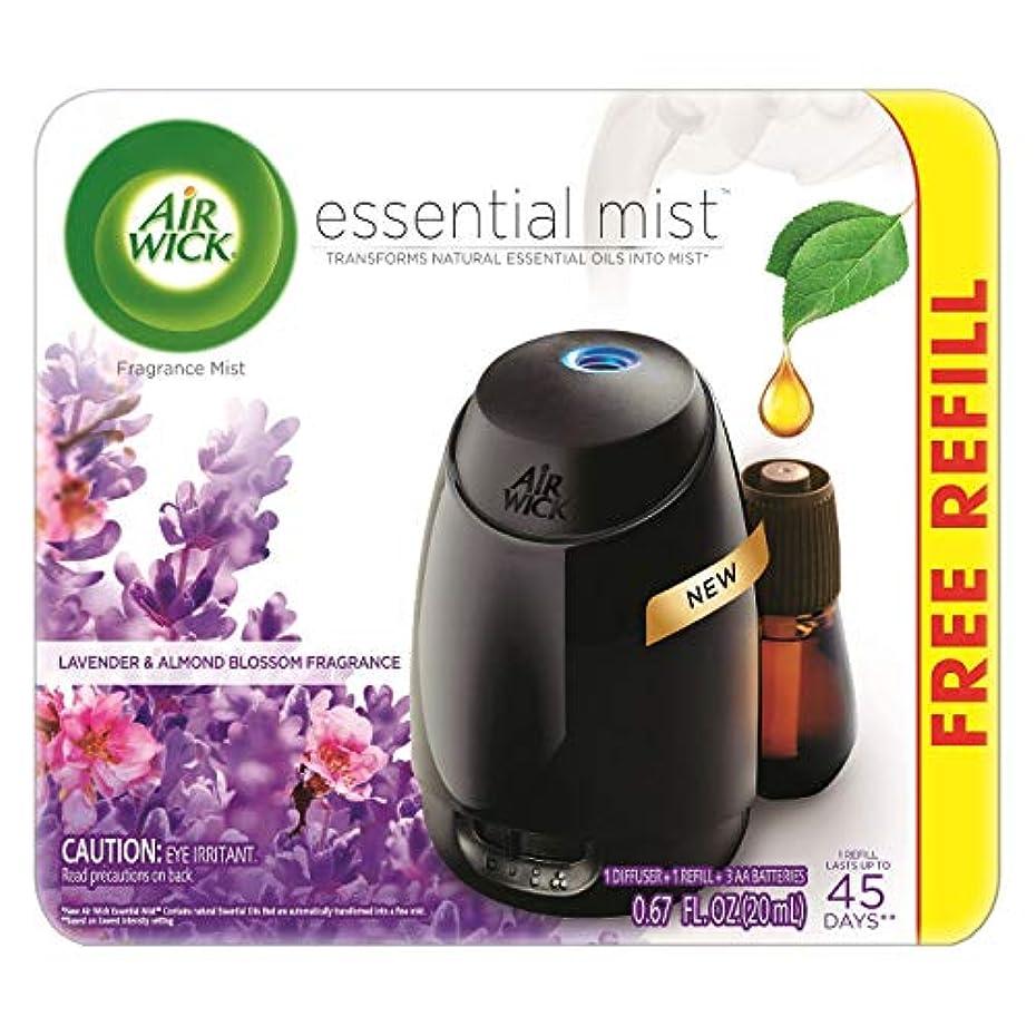 自宅で彼女乱暴なAir Wick Fresh Lavender & Almond Blossom Fragrance Essential エアーウィックフレッシュフレグランスエッセンシャルミスト本体+ ラベンダー&アーモンドブロッサム 芳香剤 20ml 、1パック [並行輸入品]