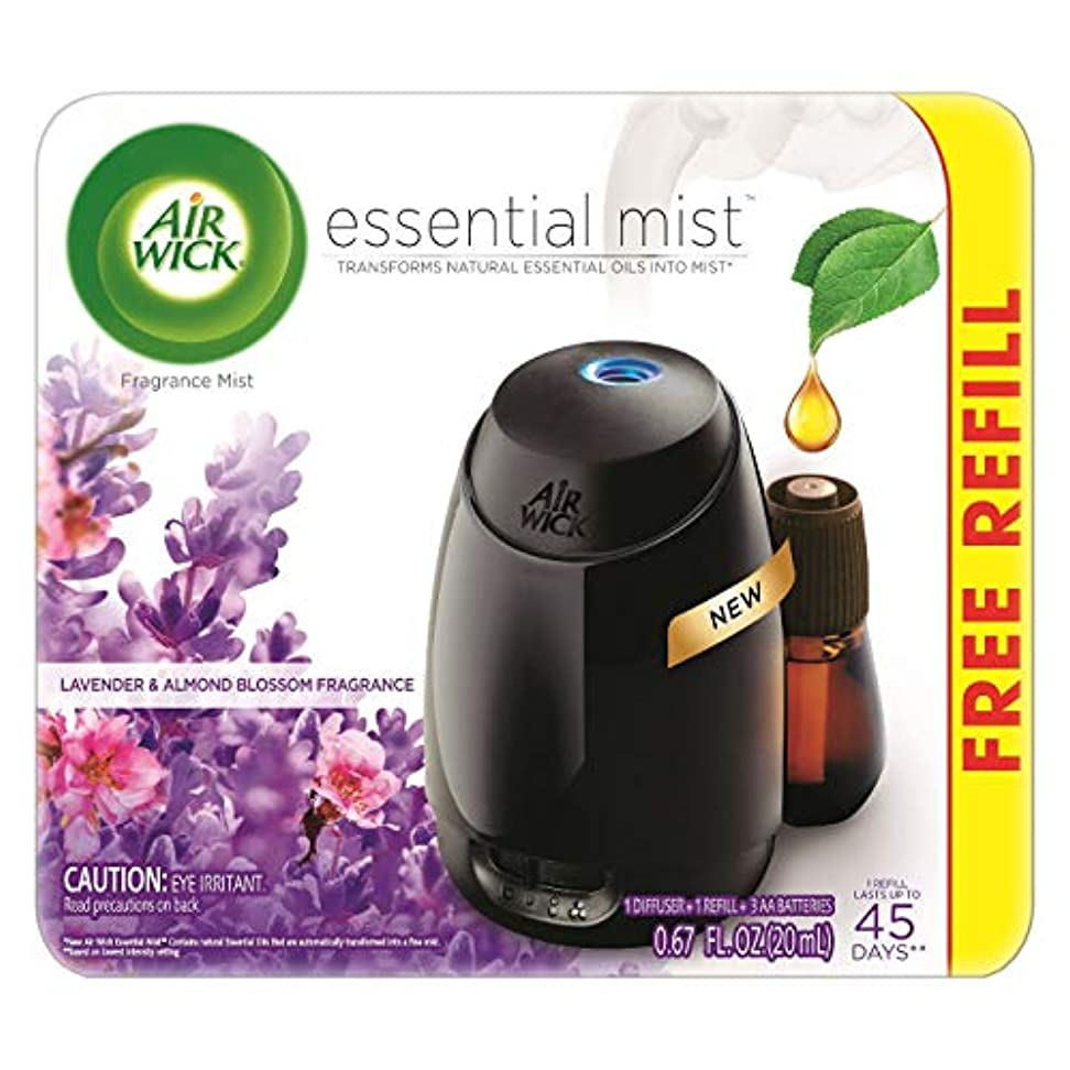 味方一緒に祝うAir Wick Fresh Lavender & Almond Blossom Fragrance Essential エアーウィックフレッシュフレグランスエッセンシャルミスト本体+ ラベンダー&アーモンドブロッサム 芳香剤 20ml 、1パック [並行輸入品]