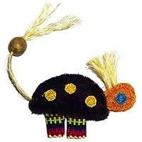 Eco-Loofah Ethnic Maka Tenuki Queen Turtle Cat Toy Purple [並行輸入品]