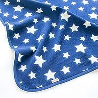 はぐまむ hugmamu® 日本製 綿毛布 ブランケット (S ベビー 55×75, スター ネイビー)1370-06