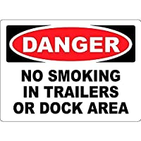 Danger No Smoking in Trailers Or Dock Area 金属板ブリキ看板警告サイン注意サイン表示パネル情報サイン金属安全サイン
