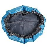 HKUN 収納袋 おもちゃ 片づけマット 収納バッグ 子どもプレイマット 防水シート ストレージバッグ 防水素材 折り畳みで便利