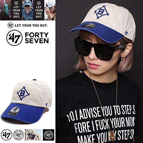 【BCPTN-RGWTT12GWSRB-NTY12】≪DODGERS COOPERSTOWN'47BRAND CLEAN UP NATURAL≫ フォーティーセブン FORTY SEVEN ボールキャップ 帽子 MLB LA ドジャース つば カーブ 正規