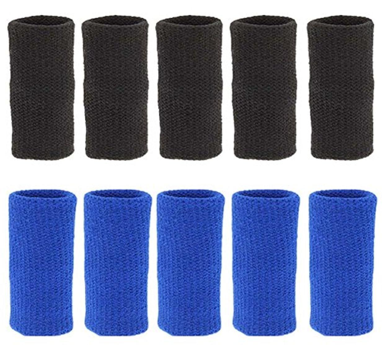 フレキシブル反発するペグ綺麗な、バスケットボールハンドセットヒンジセット/バレーボールハンドセット、ブラックブルー10セット 耐久性(2019 DSCD)