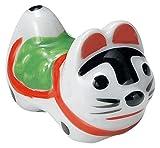 美濃焼 楽しい 箸置き こま犬 緑 W30169