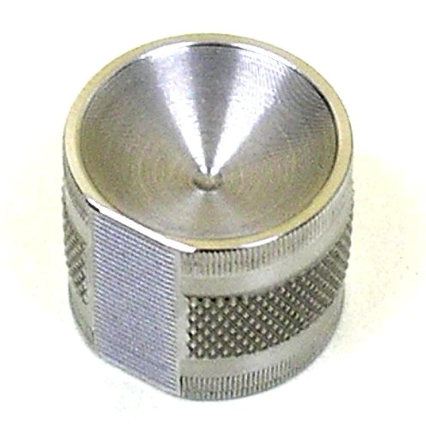 排出生じる砲撃コロコロとげーる ネイルお手入れ用 ステンレス製 すり鉢型 万能爪やすり (ラメなし)