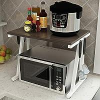 台所棚、レストラン、ホテルのためのステンレス鋼の収納棚の調味料をつける簡単でそして多目的な二重オーブンの電子レンジの炊飯器 White Black walnut