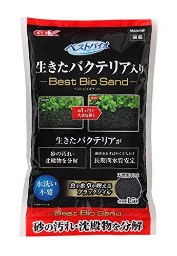 熱帯魚水槽用 ジェックス バクテリア入り ベストバイオサンド 1.5L