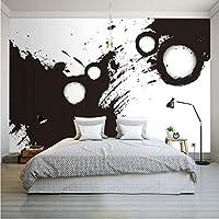 Wxmca 壁紙3D人気のインク壁紙ゲストルームレストランバー装飾背景カスタム高品質壁画-350X250Cm