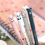 8pcs Erasable Cute Kawaii Pens Cartoon Animal Cat Pig Bear Panda Erasable Gel Pen Student Pens Ballpoint Pens For Bullet Jour