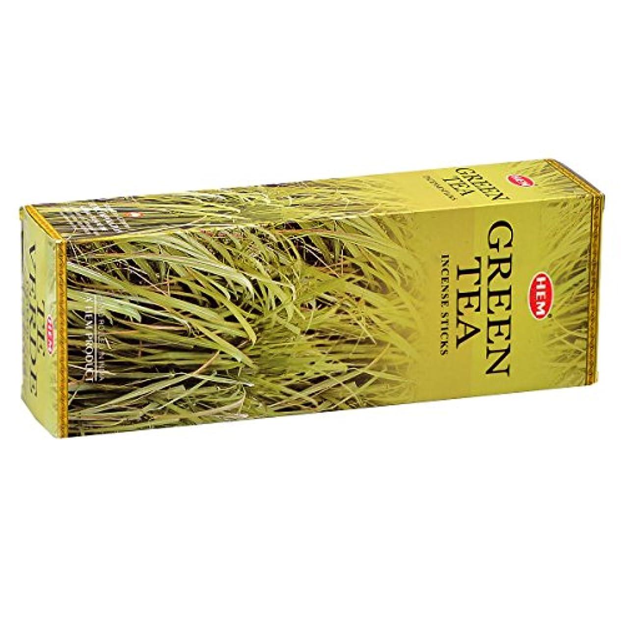 民間人自分の力ですべてをする薄いHEM(ヘム) グリーン ティー GREEN TEA スティックタイプ お香 6筒 セット [並行輸入品]