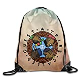 DrawstringバックパックBag Tribe Called Questロゴ One Size