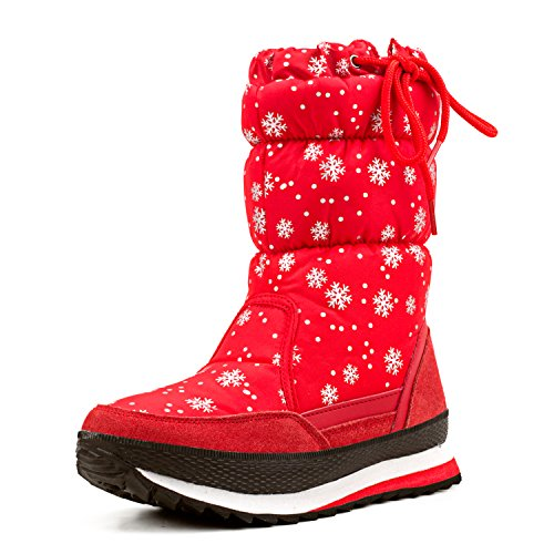 (オスランド)AUSLAND ダウン ブライド-ビロード ブーツ レディースブーツ スノーブーツ スキーブーツ (23cm, 赤)