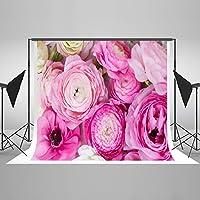 写真の背景の花ピンクの写真の背景3x3mフィート花の花の背景の背景結婚式の子供のパーティーフォトスタジオの小道具