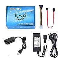 ocamo USB 2.0to SATA/PATA/IDEアダプタコンバータケーブルforハードドライブディスク
