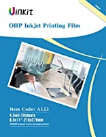 インクジェットプリンタ用OHPフィルムオーバーヘッドプロジェクタフィルム–透明度フィルム20シートのみuinkit