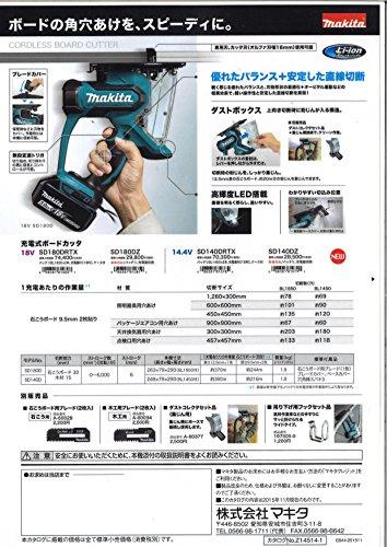 マキタ 充電式ボードカッタ 18V (本体のみ) SD180DZ