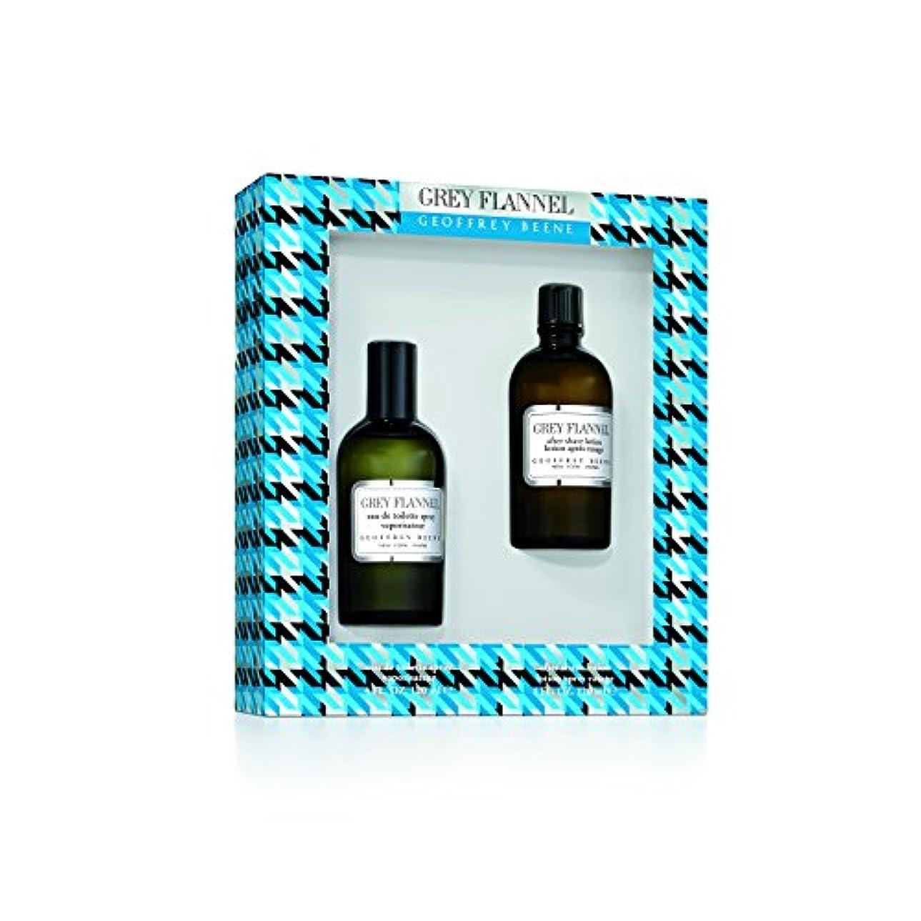 暴露指標テレックスジェフリー ビーン Grey Flannel Coffret: Eau De Toilette Spray 120ml/4oz + After Shave Lotion 120ml/4oz 2pcs並行輸入品