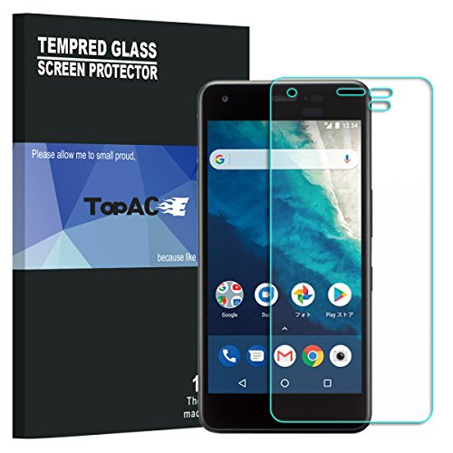 Android One S4 フィルム 【2枚パック】 TopACE 硬度9H 超薄0.33mm 2.5D 耐衝撃 撥油性 超耐久 耐指紋 日本旭硝子素材採用 飛散防止処理保護フィルム Android One S4対応